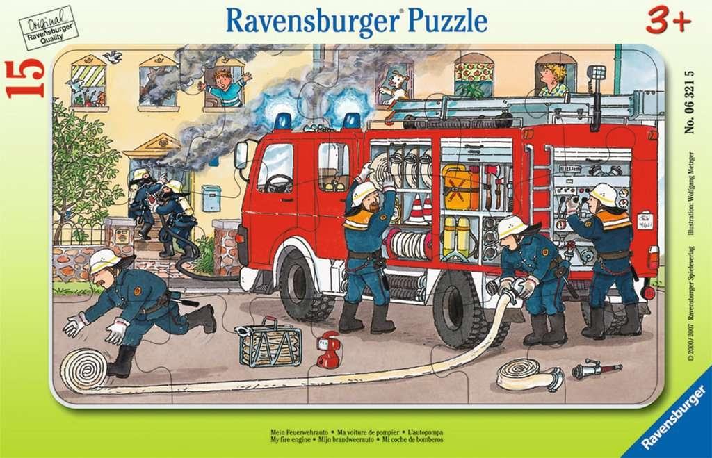 Puzzle ramkowe 15: Straż pożarna (6321)