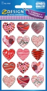 Naklejki foliowe - Czerwono-różowe serca (57521)
