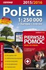 Polska. Atlas samochodowy 1:250 000 + pierwsza pomoc 2015/2016