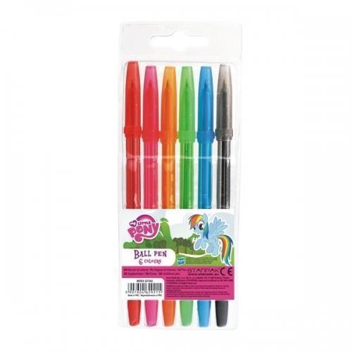 Długopisy z zatyczką 6 kolorów My Little Pony