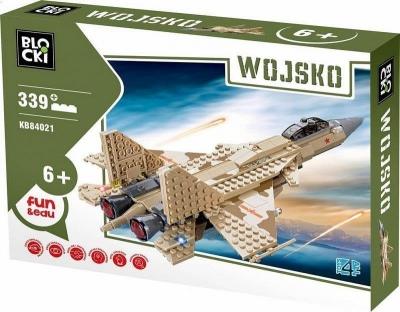 Klocki Blocki: Wojsko. Odrzutowiec wojskowy 339 elementów (KB84021)