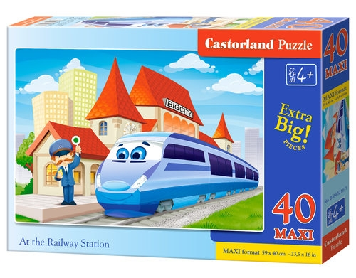 Puzzle Maxi: At the Railway Station 40 (B-040216)