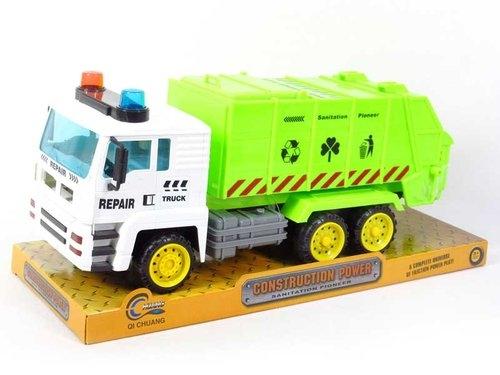 Auto śmieciarka z napędem pod kloszem 41 cm