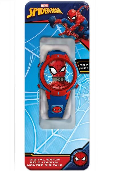Zegarek cyfrowy ze światełkami LED - Spiderman (MV15764)