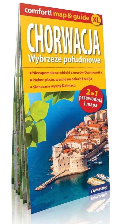 Chorwacja Wybrzeże południowe 2w1 przewodnik i mapa