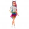 Barbie: Lalka z kolorową fryzurą i ciuchami w panterkę (GRN81)