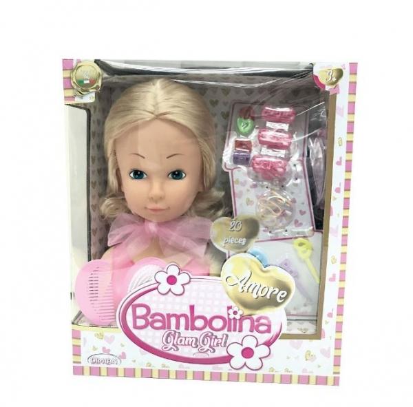 Play Głowa do czesania Amore 20 elementów Bambolina (BD1836)