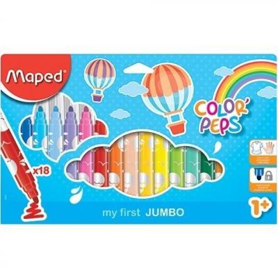 Flamastry Jumbo Colorpeps 18 kolorów MAPED