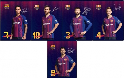 Zeszyt A5/16K kratka FC Barcelona 7 (20szt) ASTRA