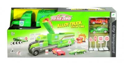 Ciężarówka z autami