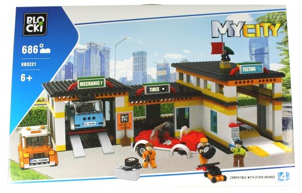Klocki Blocki: MyCity - Stacja Obsługi Pojazdów 686 el. (KB0221)