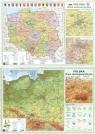 Podkładka na biurko A2 Polska ogólnogeograficzna/administracyjna dwustronna