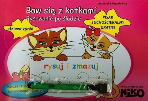 Baw się z kotkami Rysowanie po śladzie Paszkiewicz Agnieszka