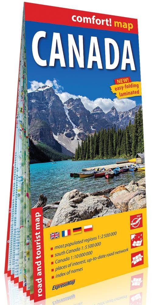 Kanada (Canada) comfort! map laminowana mapa samochodowo - turystyczna