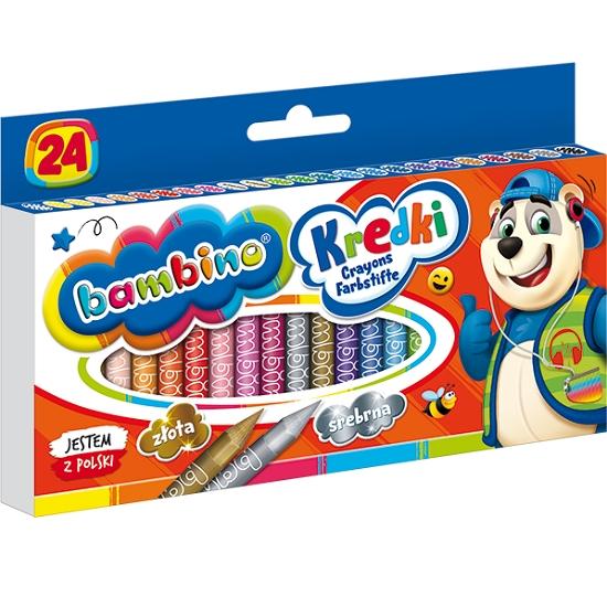 Kredki Bambino, 24 kolory