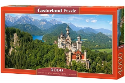 Puzzle Viev of the Neuschwanstein Castle Germany 4000 (C-400218)