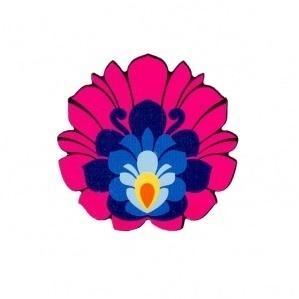 Magnes drewniany - kwiatek łowicki