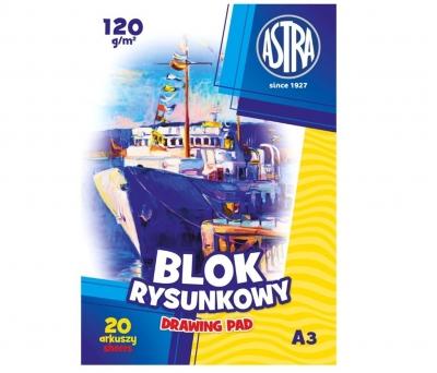 Blok rysunkowy A3/20K 120g (10szt) ASTRA