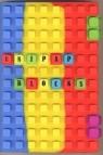 Notes silikonowy A5 Unipap Blocks w kratkę 100 kartek niebiesko-żółto-czerwony