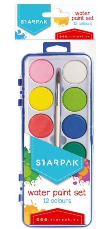 Farby akwarelowe 12 kolorów STK