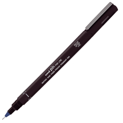 Cienkopis kreślarski Uni PIN 01-200 niebieski