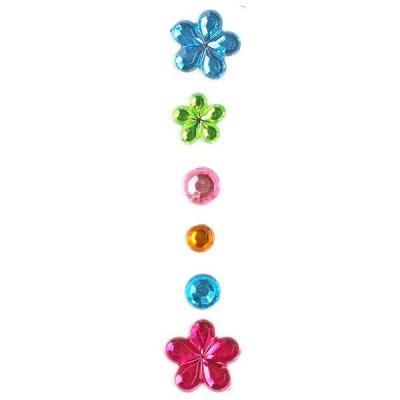 Kryształki Titanum Craft-Fun Series samoprzylepne kwiaty, kropki mix