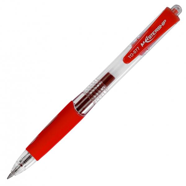 Długopis żelowy Mastership - czerwony (TO-077)