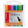 Cienkopisy Stabilo Point 88 Mini, 12 kolorów