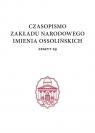 Czasopismo Zakładu Narodowego im. Ossolińskich, zeszyt 29