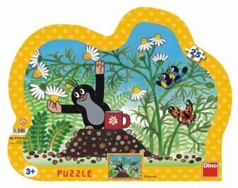 Puzzle 25 Krecik z kubkiem DINO