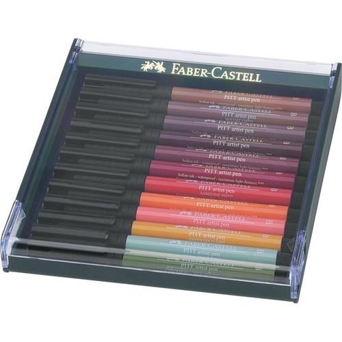 Pitt Artist pen brush, 12 sztuk - kolory ziemi (267422)
