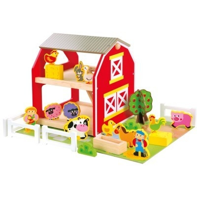 Klocki Drewniana wesoła farma ze zwierzętami (82222)