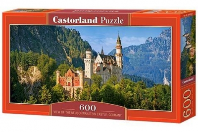Puzzle View of the Neuschwanstein Castle, Germany 600 (B-060221)
