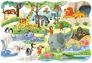 Puzzle 20 maxi. At the Zoo (02221) praca zbiorowa
