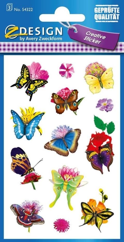 Naklejki papierowe. Motyle 54322