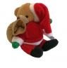 Miś świąteczny z woreczkiem 10 cm