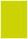 Teczka z gumką A4 Fluo limonka