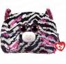 Fashion Sequins: duży cekinowy neseser ZOEY - zebra (95822)