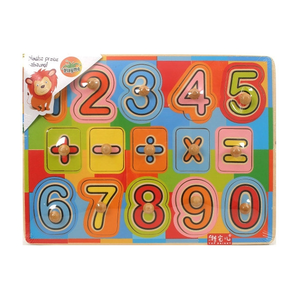 BRIMAREX Układanka drewniana cyfry (1570222)
