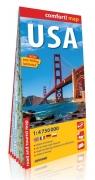 USA comfort! map laminowana mapa samochodowo-turystyczna