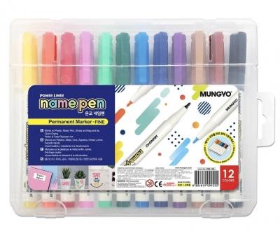 Marker permanentny mini 12 kolorów Mungyo