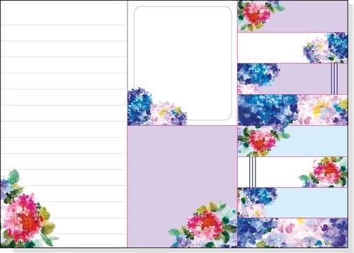 Karteczki indeksujące Hortensje