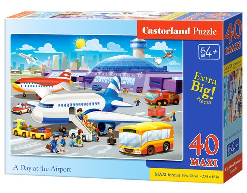 Puzzle Maxi: A Day at the Airport 40 (B-040223)
