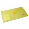 Teczka kopertowa DL żółta transparentna