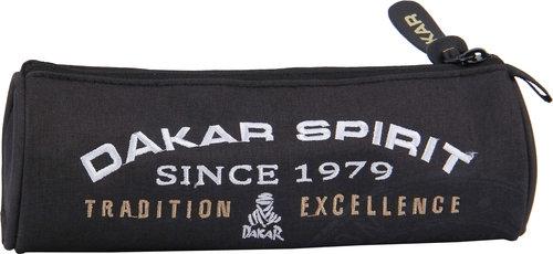Piórnik Owalny Dakar Black