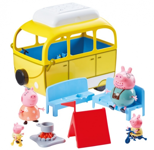 Świnka Peppa: Kamper z akcesoriami + 4 figurki - seria 2 (PEP06922)