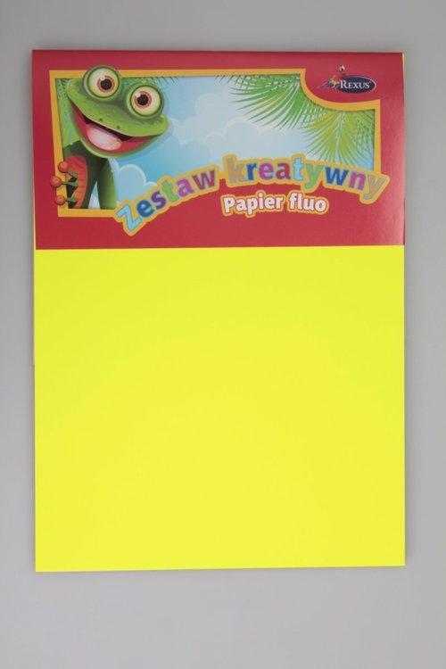 Zestaw Kreatywny - Papier Fluo  10 arkuszy