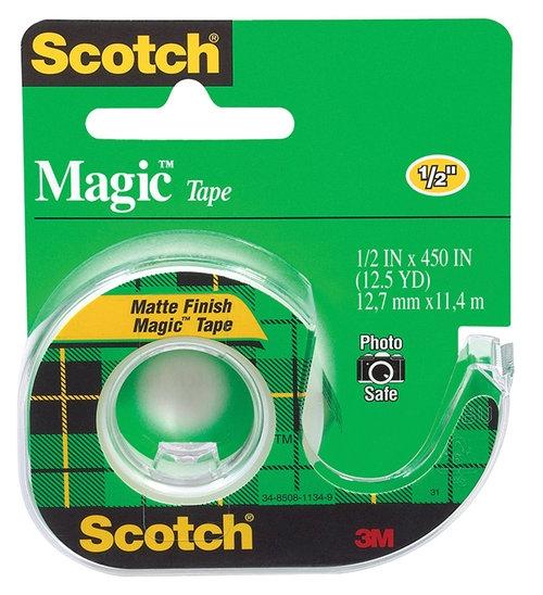 Taśma biurowa SCOTCH Magic (104), matowa, z dyspenserem 13mm, 11,4m