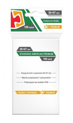 Koszulki na karty Rebel (56x87 mm) Standard American Premium, 100 sztuk