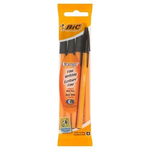 Długopis Orange Original Czarny 4 sztuki